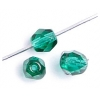 Fire polished 6mm Transparent emerald